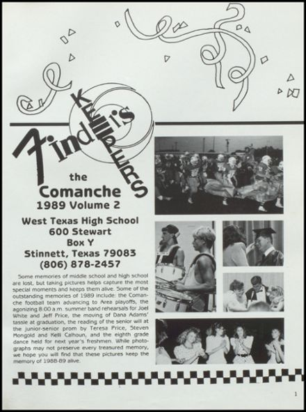 1989 West Texas High School Yearbook Page 5