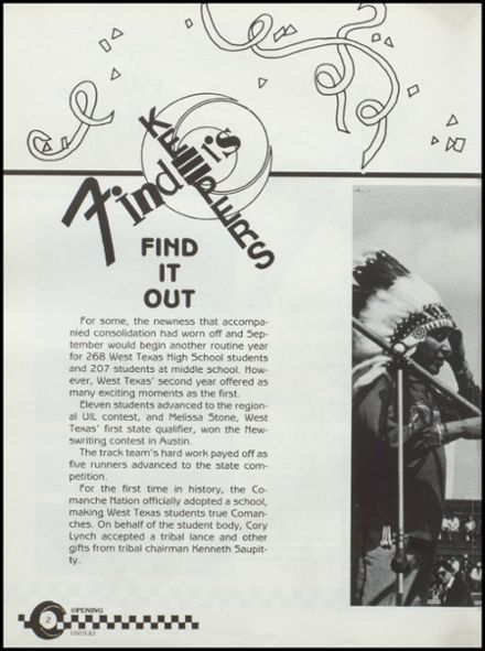 1989 West Texas High School Yearbook Page 6