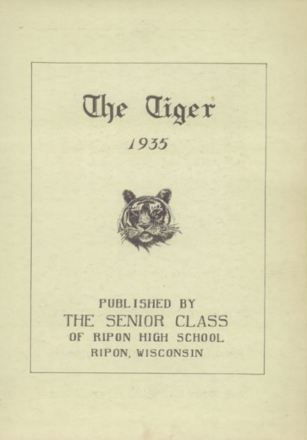 1935 Ripon High School Yearbook Page 7