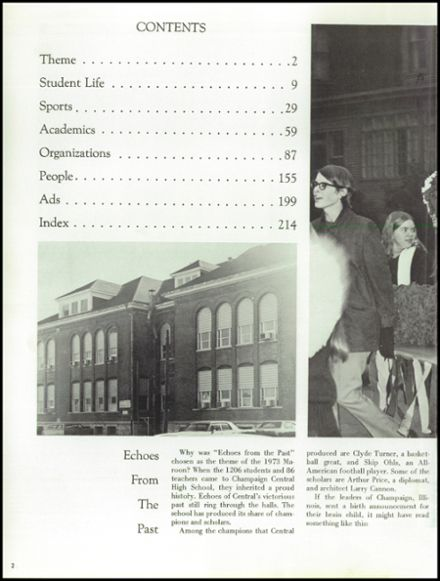1973 Champaign Central High School Yearbook Page 6