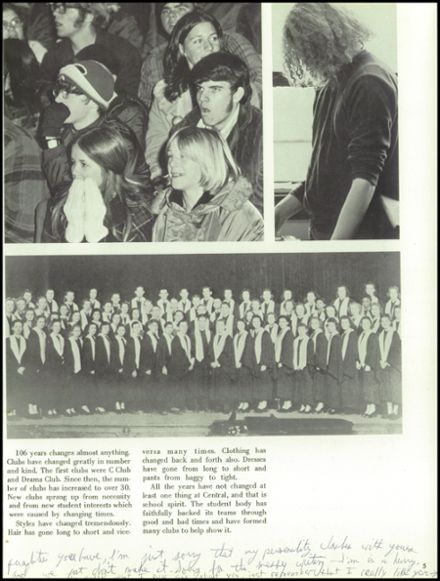 1973 Champaign Central High School Yearbook Page 9