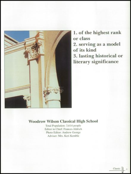 2001 Woodrow Wilson High School Yearbook Page 5