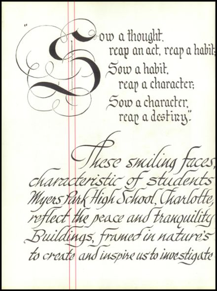 1954 Myers Park High School Yearbook Page 8