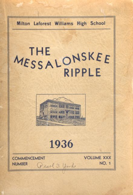 1936 Williams High School Yearbook Cover