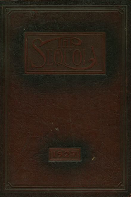 1927 Eureka High School Yearbook Cover