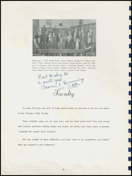 1945 Arlington High School Yearbook Page 8