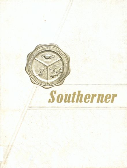 1968 Southern Academy Yearbook Cover