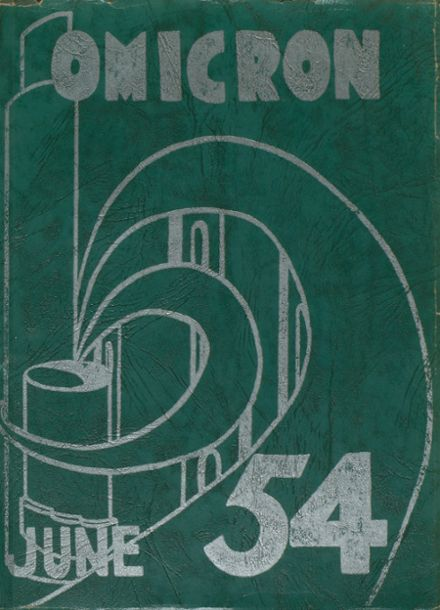 1954 Oliver High School Yearbook Cover