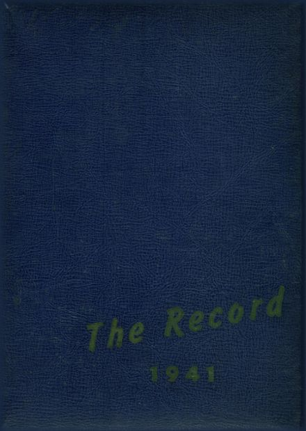 1941 Patchogue High School Yearbook Cover