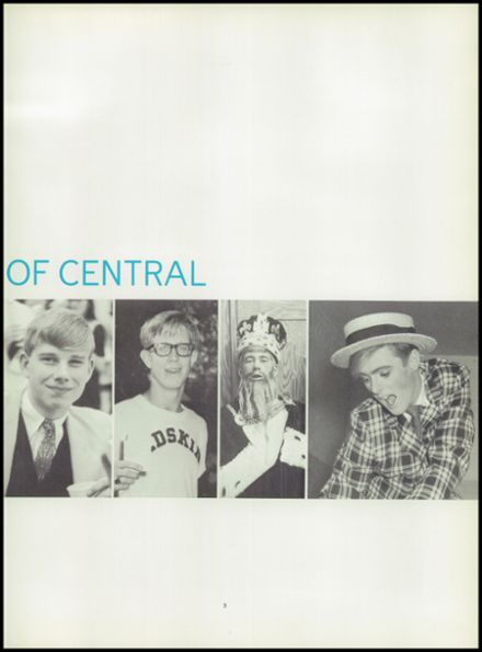 1967 Central High School Yearbook Page 7