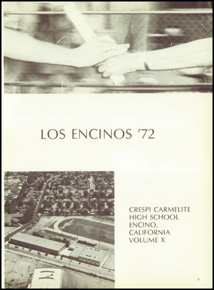1972 Crespi Carmelite High School Yearbook Page 5