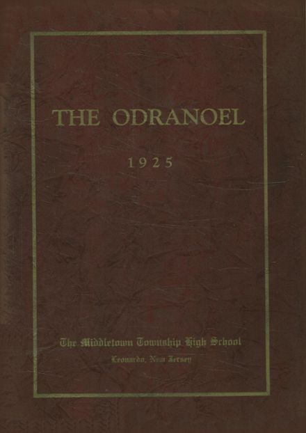 1925 Middletown Township High School Yearbook Cover