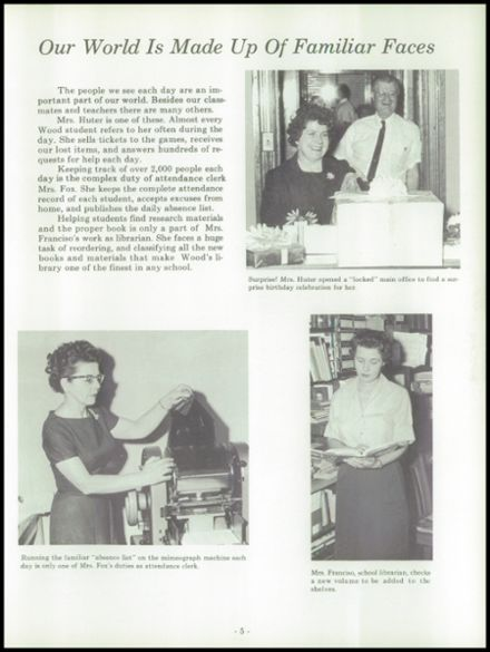 1963 Harry Wood High School Yearbook Page 9