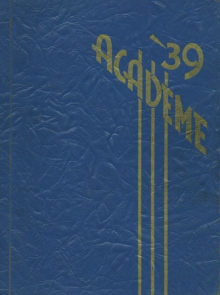 1939 Academy High School Yearbook Cover