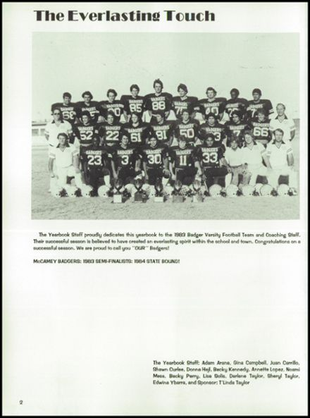 1984 McCamey High School Yearbook Page 6