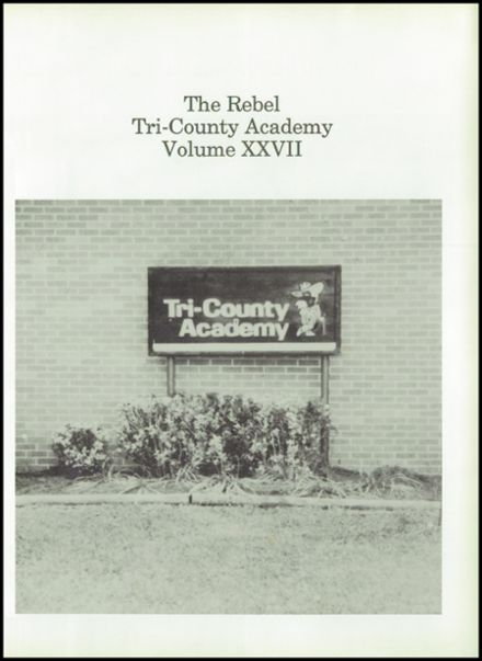 1998 Tri-County Academy Yearbook Page 5