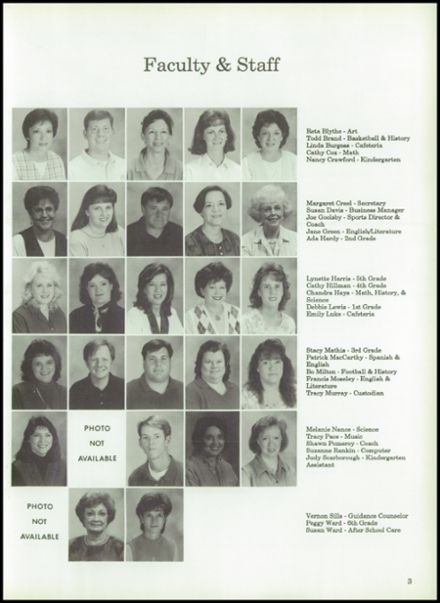 1998 Tri-County Academy Yearbook Page 7