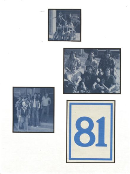 1981 Colcord High School Yearbook Cover