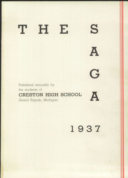 1937 Creston High School Yearbook Page 5