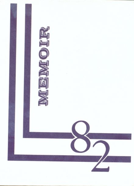 1982 Charleroi High School Yearbook Cover
