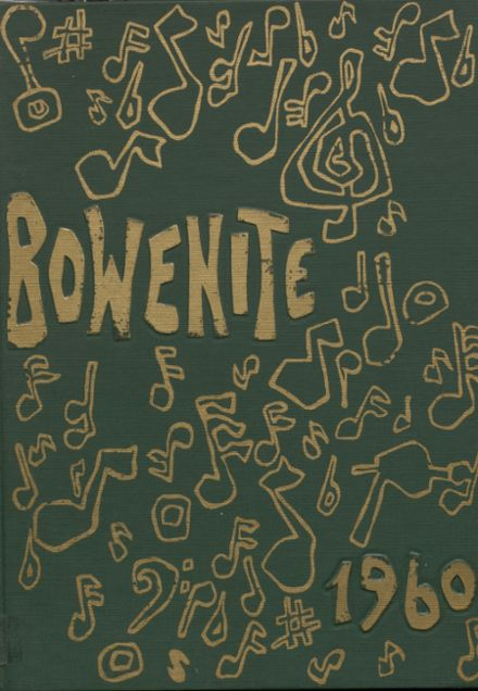 1960 Bowen High School Yearbook Cover