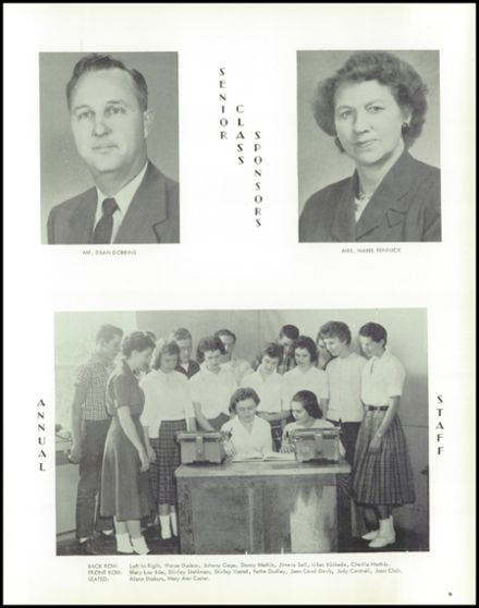 1960 Niangua High School Yearbook Page 9