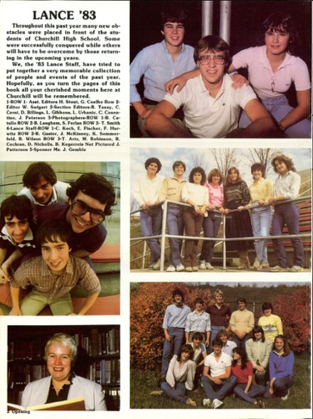 1983 Churchill Area High School Yearbook Page 6