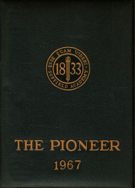 1967 Suffield Academy Yearbook Cover