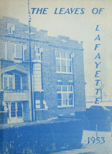 1953 Lafayette Central High School Yearbook Cover