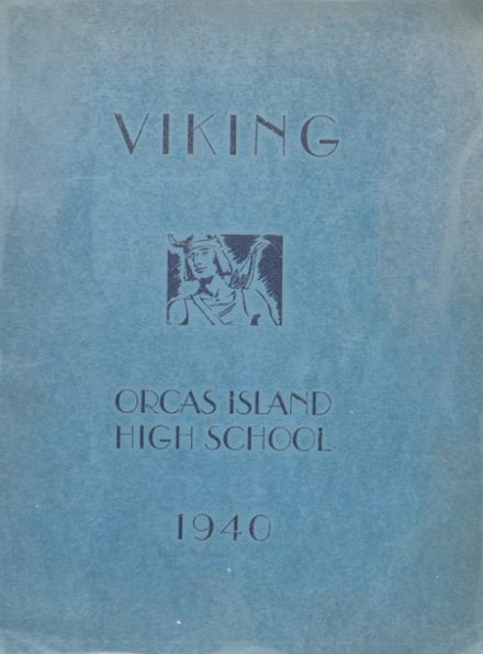 1940 Orcas Island High School Yearbook Cover
