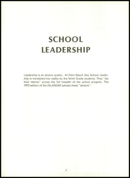 1973 Palm Beach Day School Yearbook Page 6