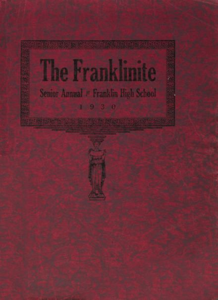 1930 Franklin High School Yearbook Cover