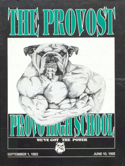 1993 Provo High School Yearbook Cover