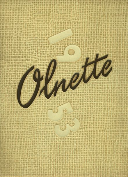 1953 Olney High School Yearbook Cover