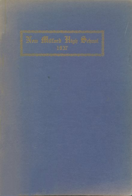 1937 New Milford High School Yearbook Cover