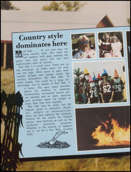 1984 Red Oak High School Yearbook Page 8