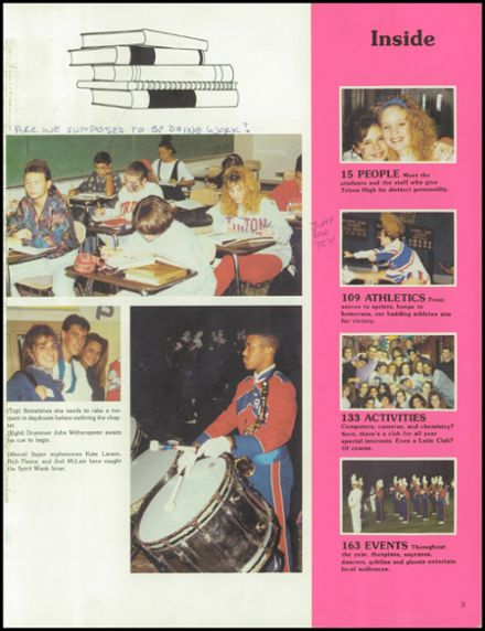 1992 Triton Regional High School Yearbook Page 7