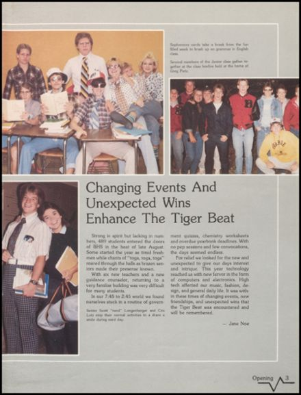 1985 Bluffton High School Yearbook Page 7