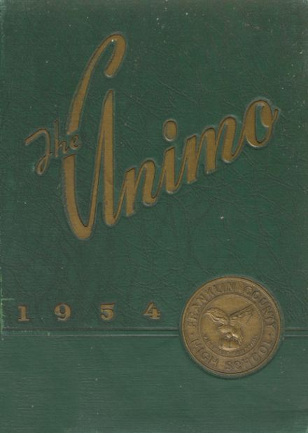 1954 Franklin County High School Yearbook Cover