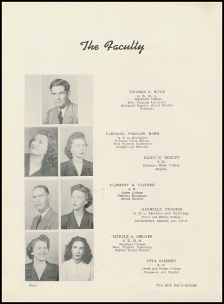 1950 Petersburg High School Yearbook Page 8
