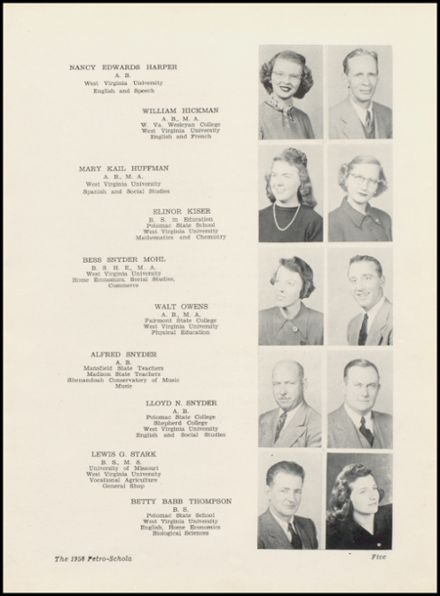 1950 Petersburg High School Yearbook Page 9