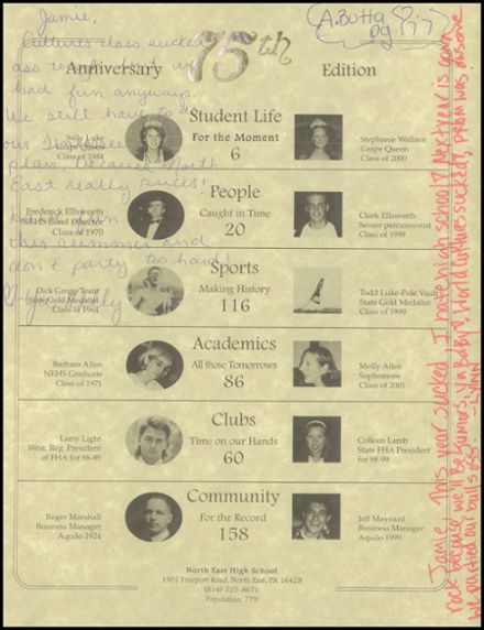 1999 North East High School Yearbook Page 3