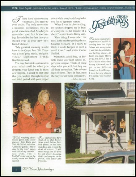 1999 North East High School Yearbook Page 6
