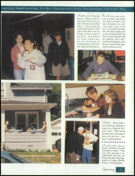1999 North East High School Yearbook Page 7