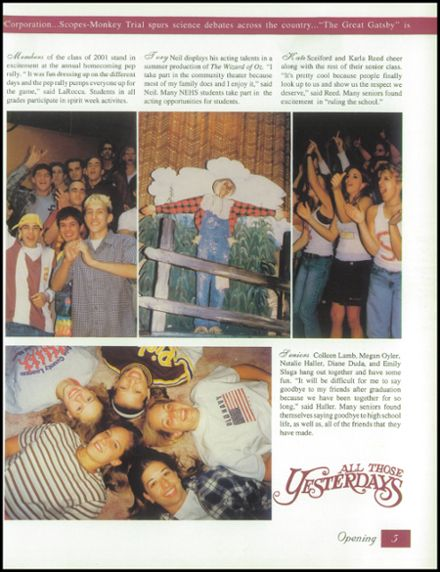 1999 North East High School Yearbook Page 9