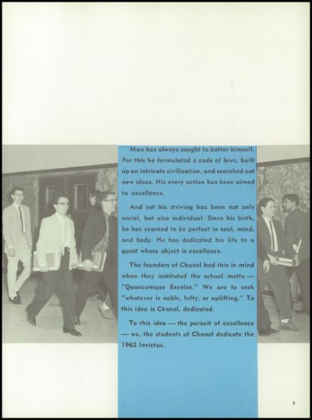 1962 Chanel High School Yearbook Page 9