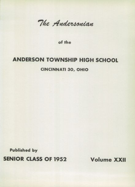 1952 Anderson High School Yearbook Page 5