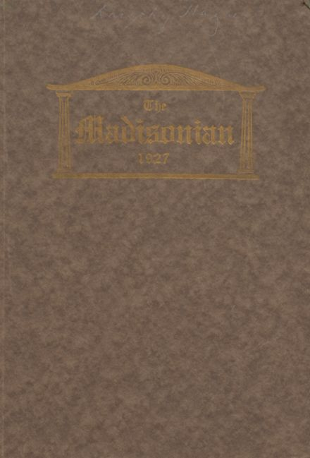 1927 Madison High School Yearbook Cover