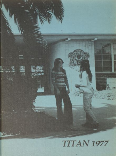 1977 Ganesha High School Yearbook Cover