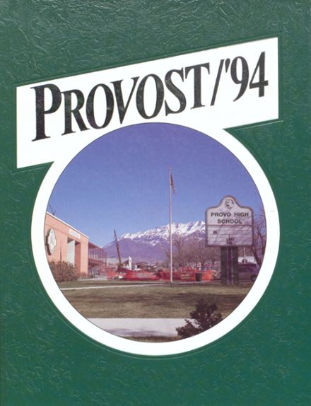 1994 Provo High School Yearbook Cover